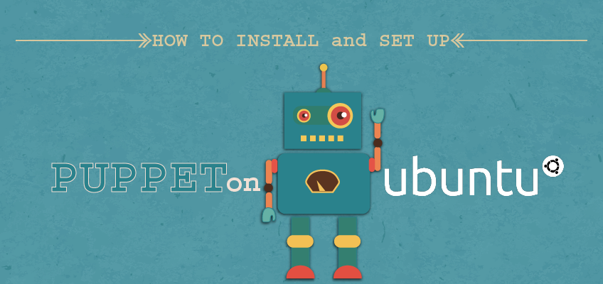 How to Install and Set up Puppet on Ubuntu on Teal Background