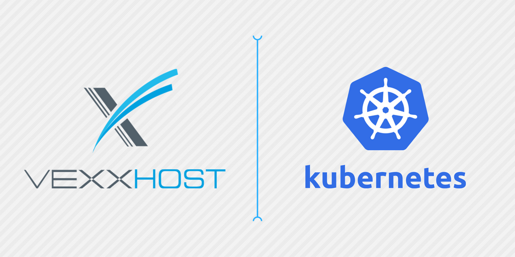 VessHost Logo Next to Kubernetes Ship's Wheel Logo