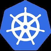 Blue Kubernetes Ship's wheel Logo