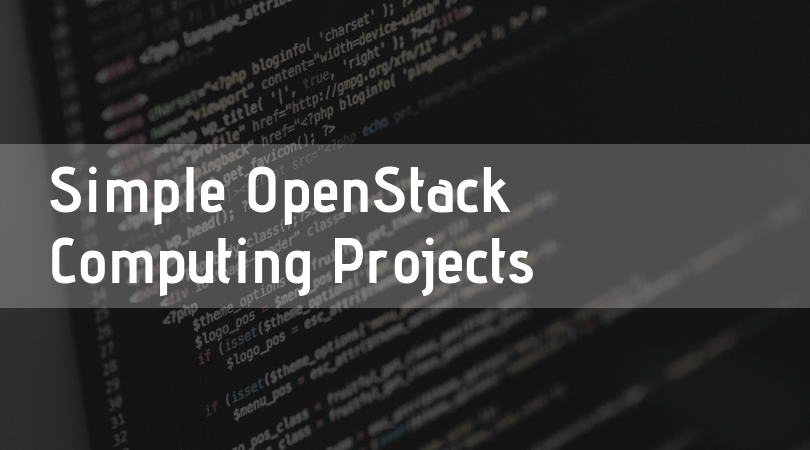 Simple OpenStack Computing Projects