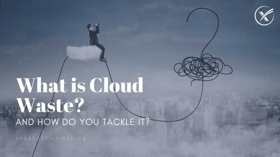 cloud waste vexxhost blog header