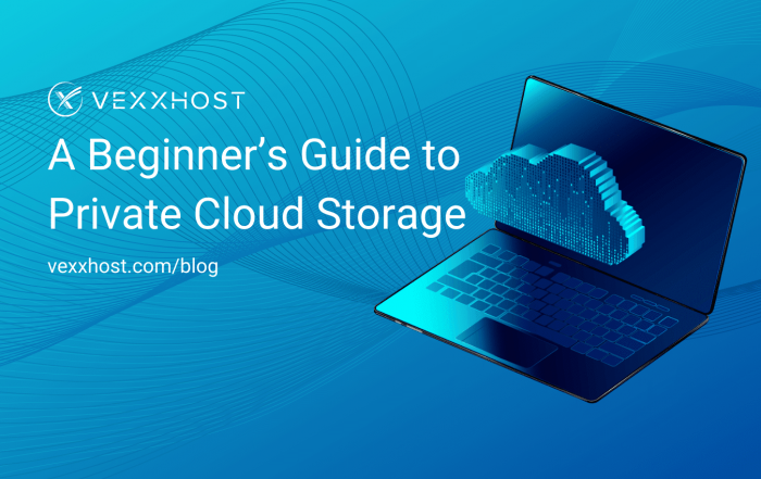 private cloud storage vexxhost blog header